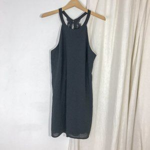 ASTR High Neck Black Mini Shift Dress Sleeveless
